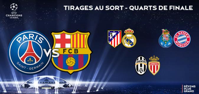 Ligue des champions tirage au sort des quarts de finale - Tirage au sort coupe de la ligue 2015 ...
