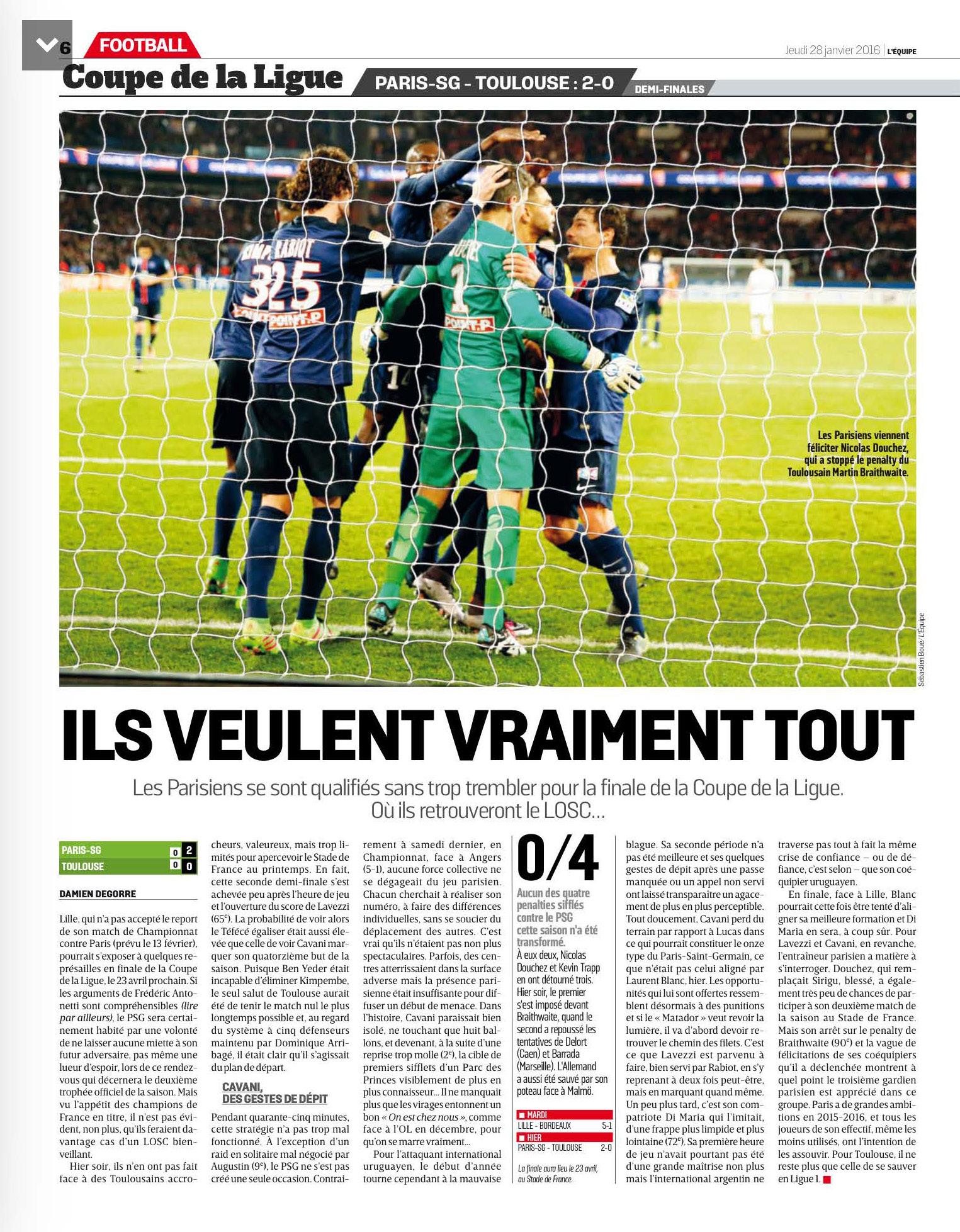 Coupe de la ligue onlynous - Coupe de la ligue om toulouse ...