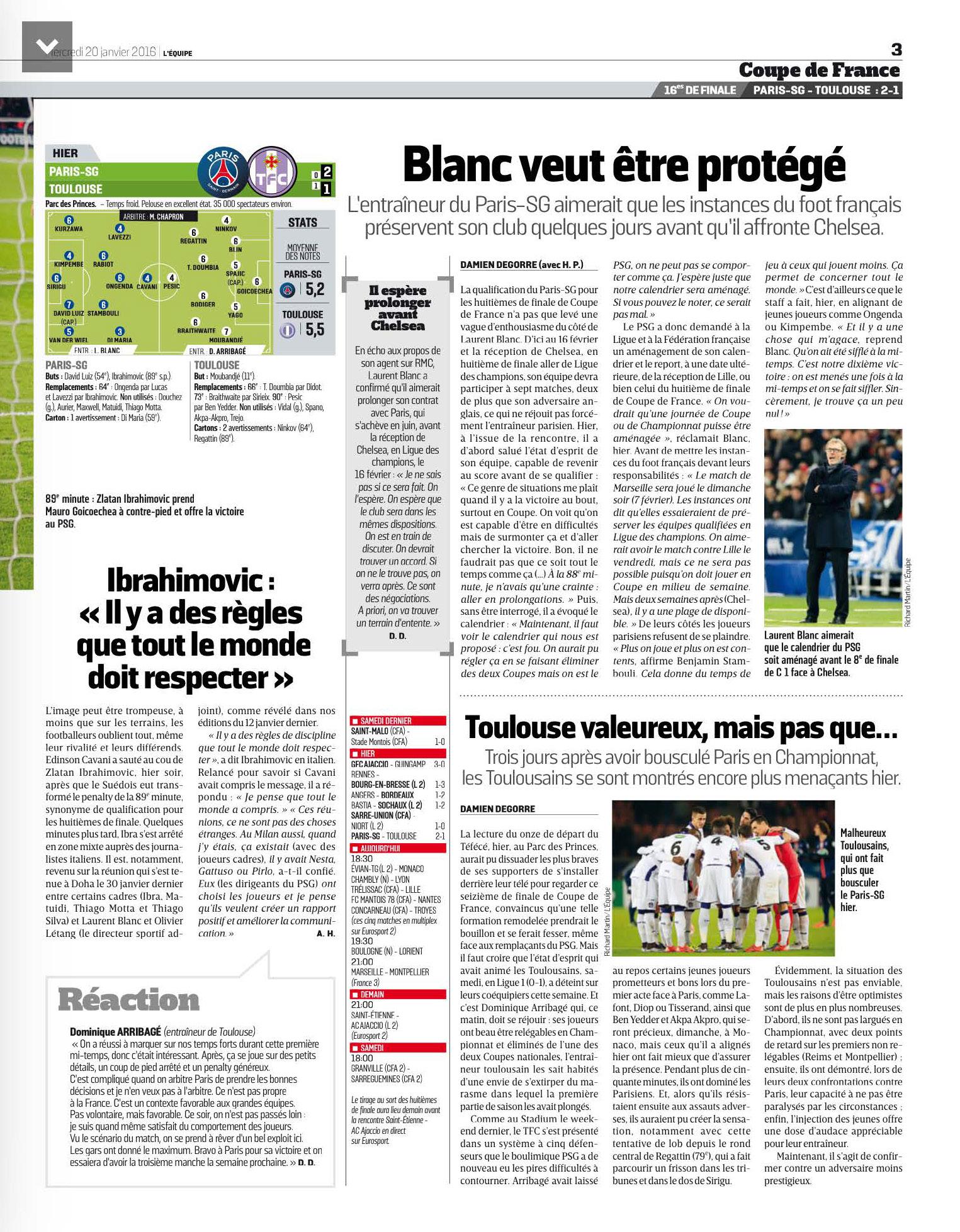 Coupe de france revue de presse 16 me de finale psg - Tirage au sort 16eme de finale coupe de france ...