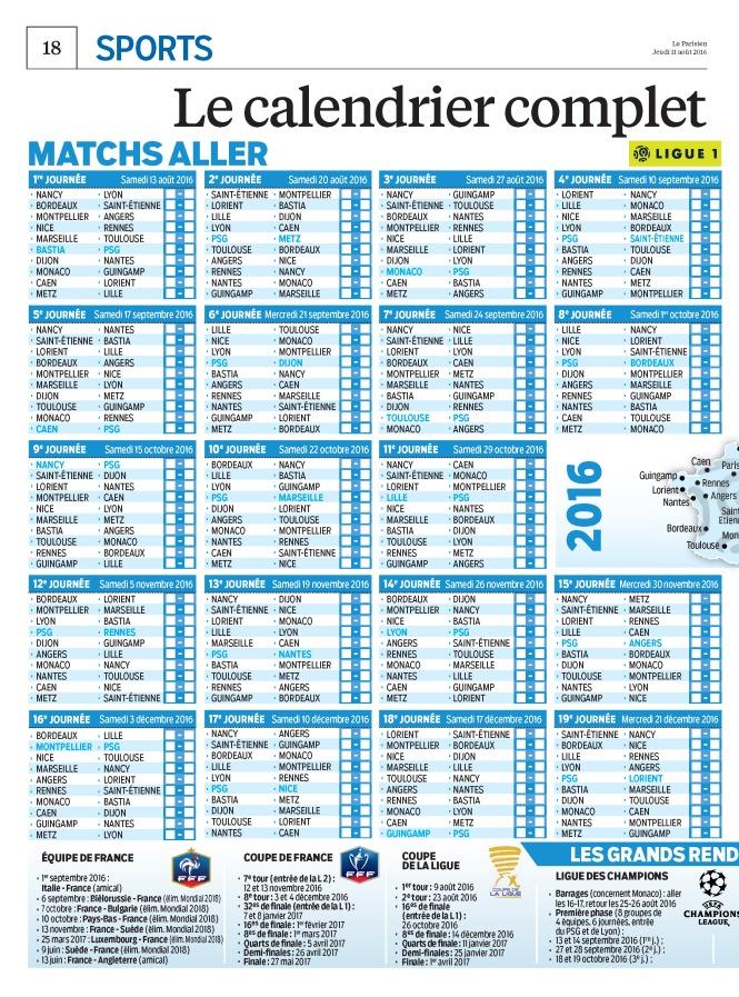 Club saison 2016 2017 le calendrier du psg pour la saison 2016 2017 onlynous - Date des saisons 2016 ...